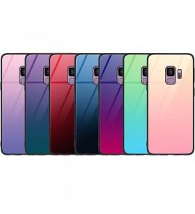 Чехол Samsung Galaxy S9 градиент TPU+Glass