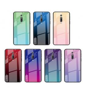 Чехол Xiaomi Redmi K20  градиент TPU+Glass