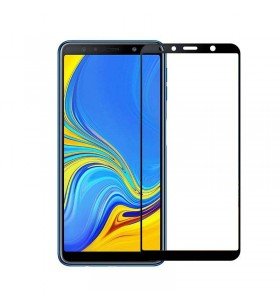 3D Стекло Samsung A7 2018 – Full Glue (black)