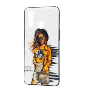 Чехол Oppo A31 – Ladies Girl Fashion Mix (Желтый)