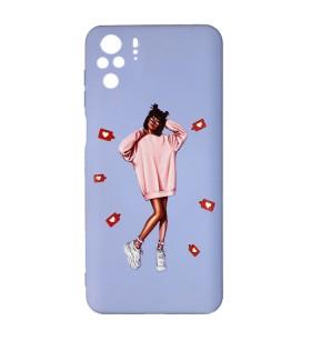 Силиконовый чехол Xiaomi Redmi Note 10 – ART Lady Like