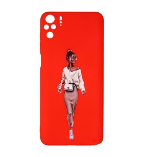 Силиконовый чехол Xiaomi Redmi Note 10 – ART Lady Red