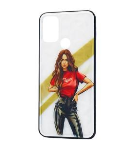 Чехол Samsung Galaxy A21s – Ladies Girl Fashion Mix (Красный)