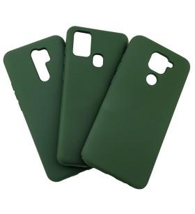 Силиконовый Чехол Samsung Galaxy A21s – Full Cover (Темно-зеленый)