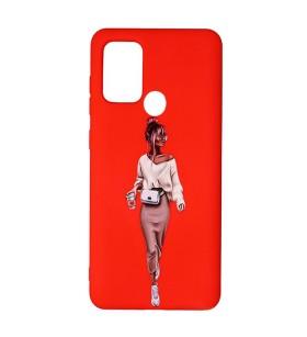 Силиконовый чехол Samsung Galaxy A21s – ART Lady Red