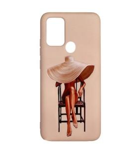 Силиконовый чехол Samsung Galaxy A21s – ART Lady With Hat