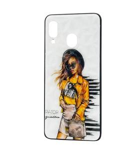 Чехол Samsung Galaxy A30 – Ladies Girl Fashion Mix (Желтый)