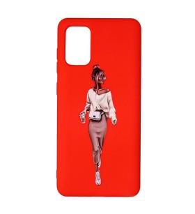 Силиконовый чехол Samsung Galaxy A02s – ART Lady Red