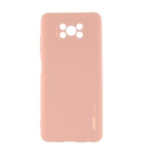 Чехол силиконовый Xiaomi Poco X3 – Smtt (Розовый)