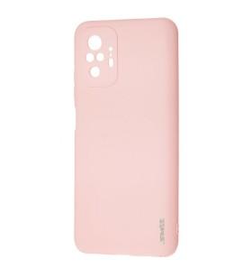 Чехол силиконовый Xiaomi Redmi Note 10 Pro – Smtt (Розовый)