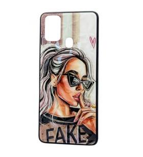 Чехол Samsung Galaxy F41 – Lady Fake Fashion Mix