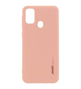 Чехол силиконовый Samsung Galaxy F41 – Smtt (Розовый)
