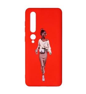 Силиконовый чехол Xiaomi Mi 10 Pro – ART Lady Red