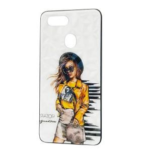 Чехол Oppo A12 – Ladies Girl Fashion Mix (Желтый)