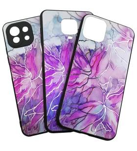 Силиконовый Чехол iPhone 12 – Мрамор UV Pink