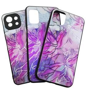 Силиконовый Чехол Samsung Galaxy A71 – Мрамор UV Pink