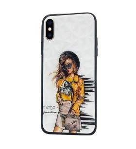 Чехол iPhone XS Max – Ladies Girl Fashion Mix (Желтый)