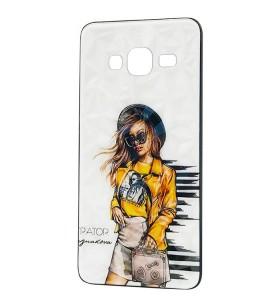 Чехол Samsung Galaxy J3 (2016) – Ladies Girl Fashion Mix (Желтый)